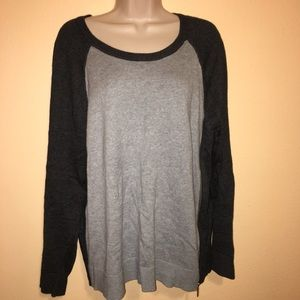 Michael Kors XL Sweater Gray Soft Cotton Viscose